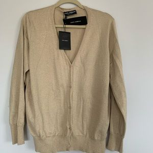 🆕 Dolce & Gabbana Gold Cardigan 🆕 OPEN TO OFFERS
